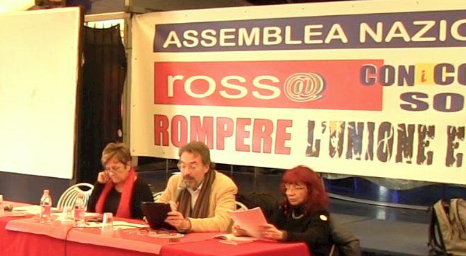 Assemblea Nazionale di Rossa relazione di Giorgio Cremaschi