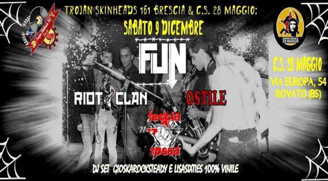 serata musicale con FUN-FECCIA ROSSA-RIOT CLAN-OSTILE