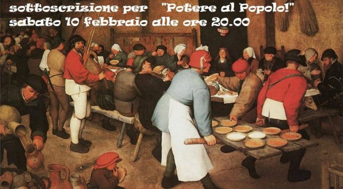 """A TAVOLA PER """"POTERE AL POPOLO"""""""