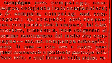 per tutti i compagni…l'etimologia di COMPAGNO…