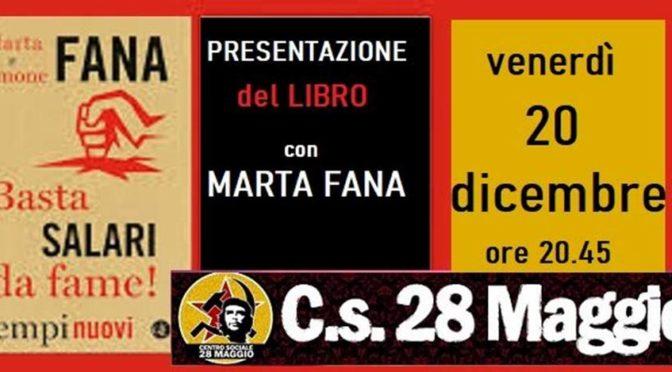 BASTA SALARI DA FAME – presentazione del libro con Marta Fana